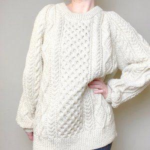 Vintage Fisherman Heavy Knit Crewneck Wool Sweater